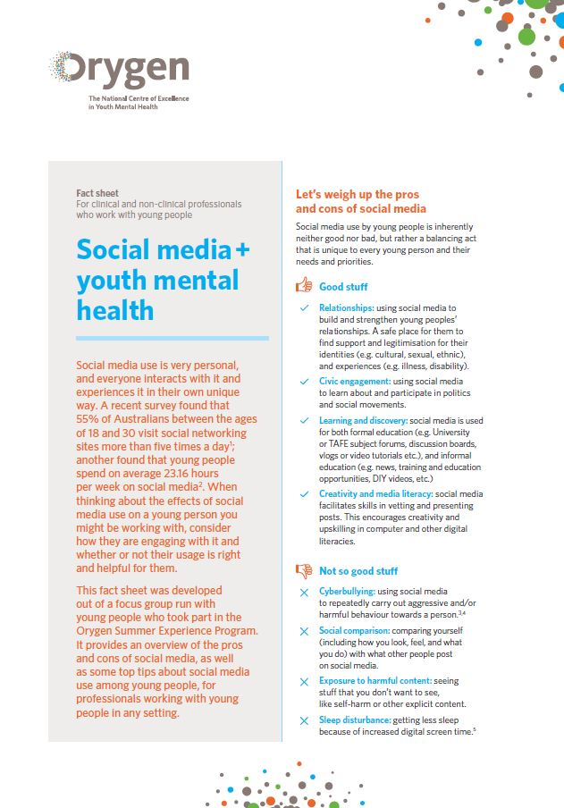 Social media + youth mental health