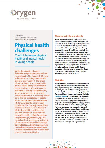 Physical health challenges - The link between physical health and mental health in young people