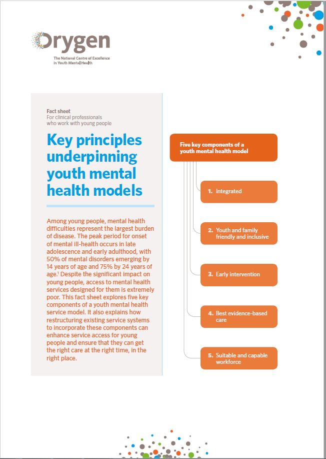 Key principles underpinning youth mental health models